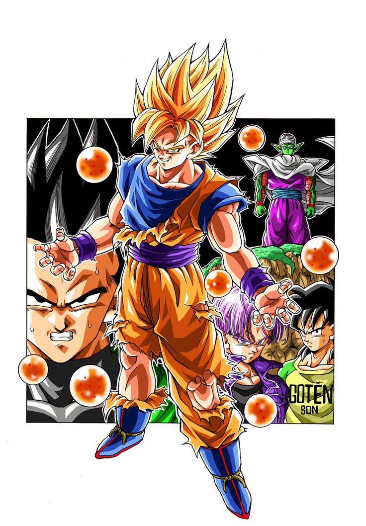 """""""Evil Goku"""" drawn by: Young Jijii. Found by: #SonGokuKakarot"""