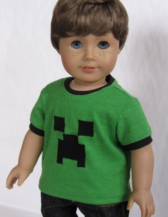 American Girl Boy Doll Clothes  Creeper Minecraft by Minipparel, $12.00