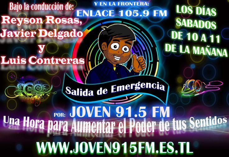 #Radio #Musica #Rock #Pop #Electronica #Dance #SalidaDeEmergencia #Neon #New #2014 #Sabado #ReysonRosas #JavierDelgado #LuisContreras #Best #More #Power #Designe #Live #Pasion #Joven91.5fm #Enlace105.9fm #Tachira #SanCristobal #Frontera #Venezuela #Cucuta #Pamplona #Chinacota #NorteDeSantander