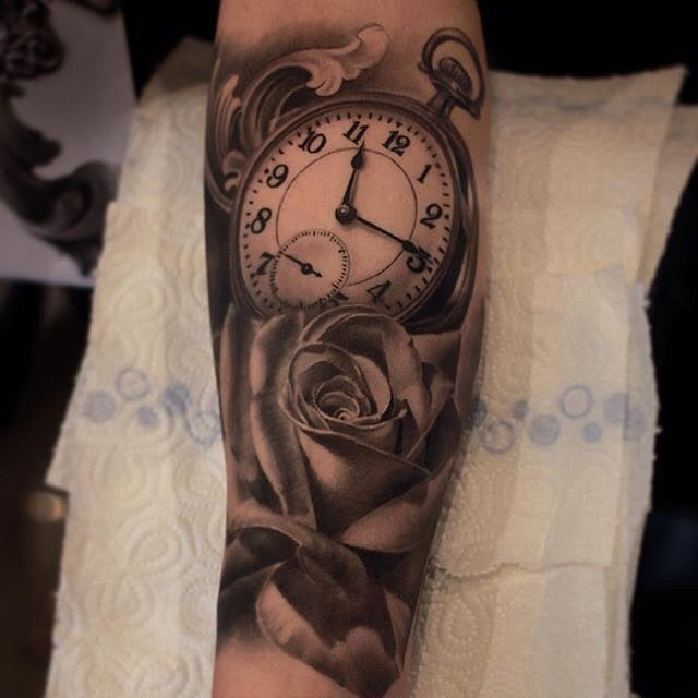 349 best tatouages montre gousset images on pinterest - Montre a gousset tattoo ...