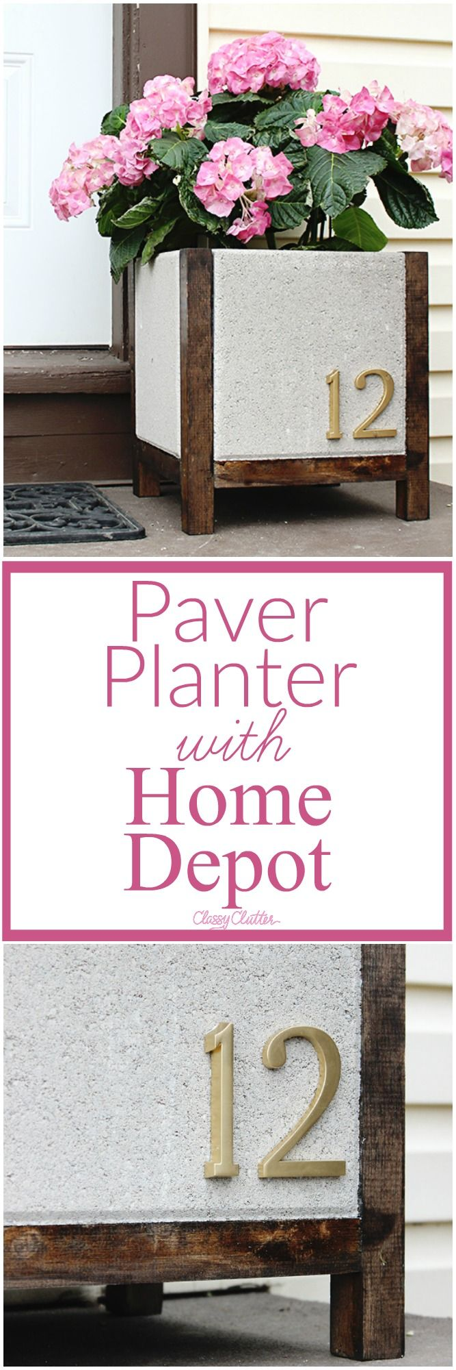 Pave Planter that is adorable and so cute! Make yours own DIY pave planter.