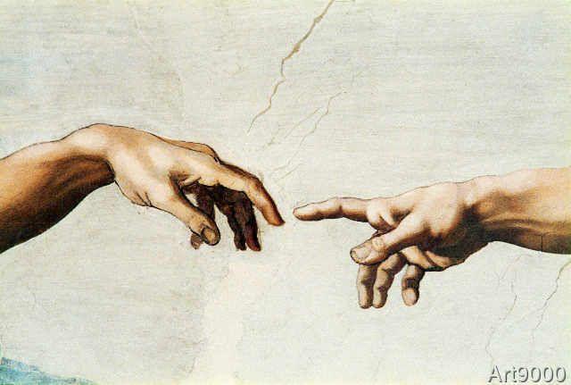 Michelangelo Buonarroti - The creation of Adam