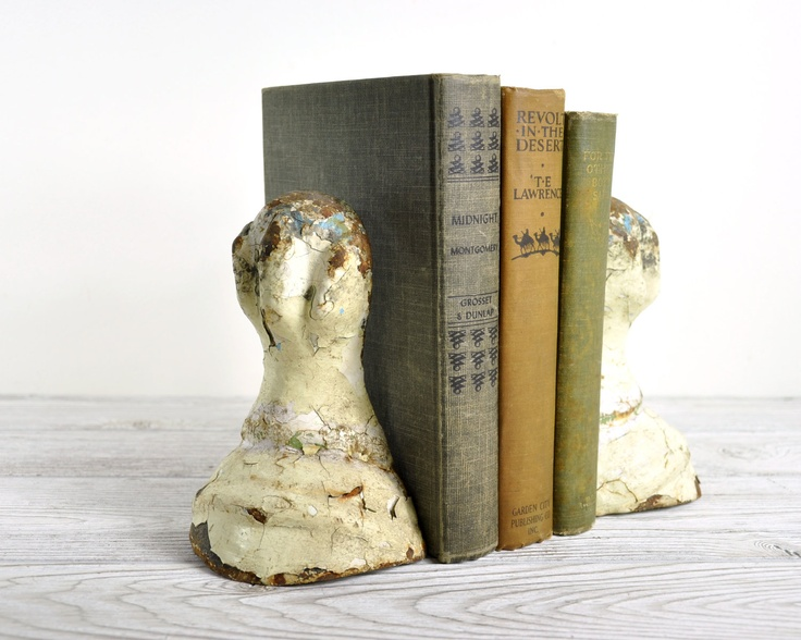 Vintage Victorian Cast Iron Claw Feet Book Ends ...