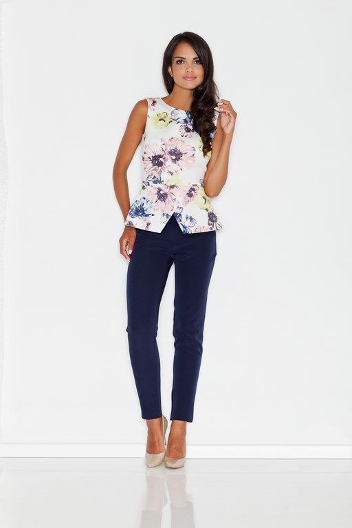 Summer blouse for women with flowers