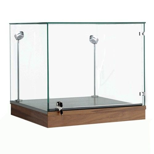 Museum Display Case w/ Tempered Glass Showcase Compartment Subastral