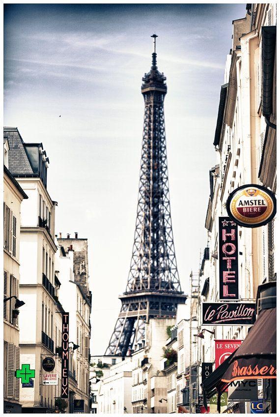 Paris Travel Photography, Eiffel Tower, Paris, France Metallic Photographic Print