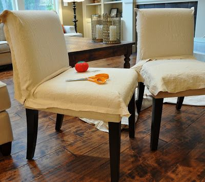 18 best images about upholstery projects on pinterest upholstery chair slipcovers and chairs - How to make easy slipcovers for dining room chairs ...