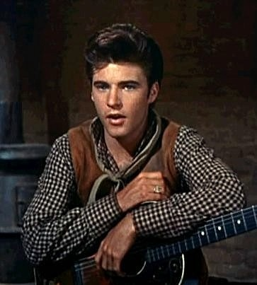Ricky Nelson in Rio Bravo with John Wayne. Love