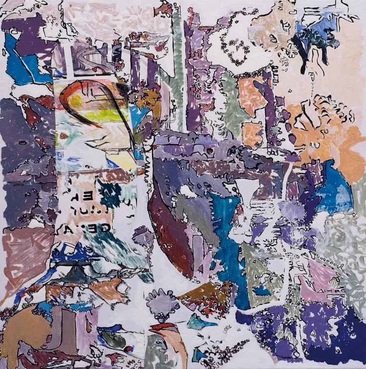 Claudio Spanti - Sharada - Acrylique sur toile - cm 40x40 - 2011