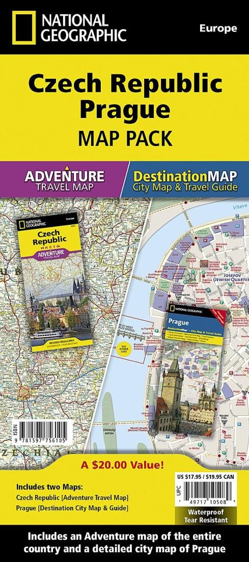 Czech Republic, Prague Map Pack Bundle by National Geographic Maps