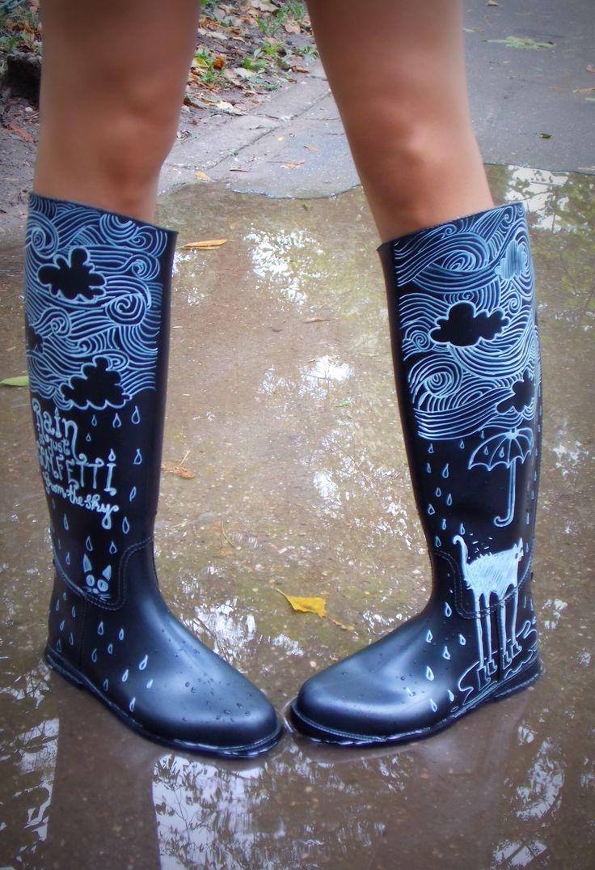 #Handpainted#RainBoots