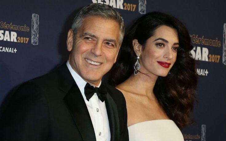 Беременность ей клицу: Амаль иДжордж Клуни накинопремии «Сезар» вПариже