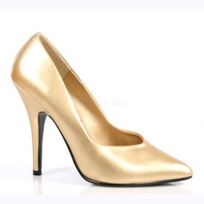 Seduce 420 Gold Court Shoes