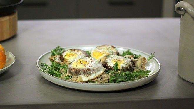 Gevulde portobella met wilde rijst - recept | 24Kitchen