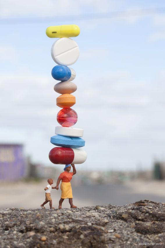 Little People - a tiny street art project by slinkachu