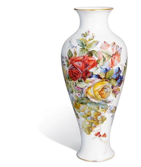 """Vase """"Blumen- und Fruchtmalerei"""", H 47,5 cm"""