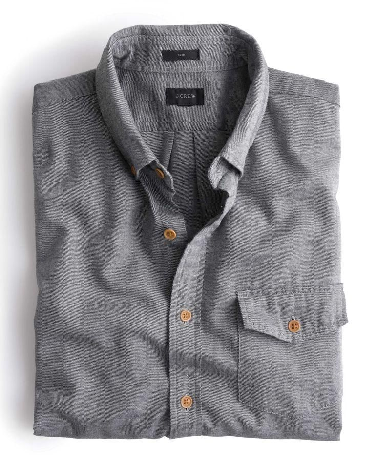 J.Crew // Brushed Twill Shirt in Heather Grey // $88.00 USD https://ianneateblog.wordpress.com/