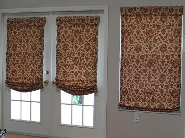 Roman Shades On French Doors Door Window Treatments