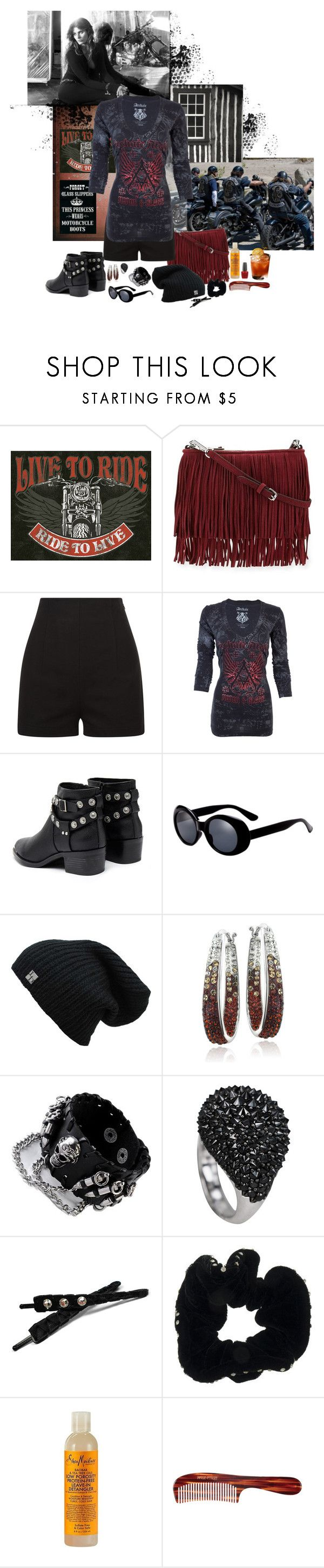 """Riding with MC"" by annakitauzu ❤ liked on Polyvore featuring Sons of Anarchy, Redemption Choppers, Rebecca Minkoff, Senso, Gregory Ladner, SheaMoisture, Mason Pearson and OPI"