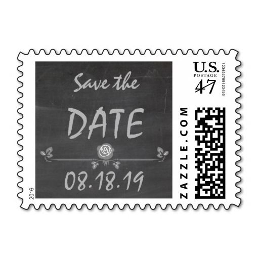 Wedding Save the Date Vintage Chalkboard Postage