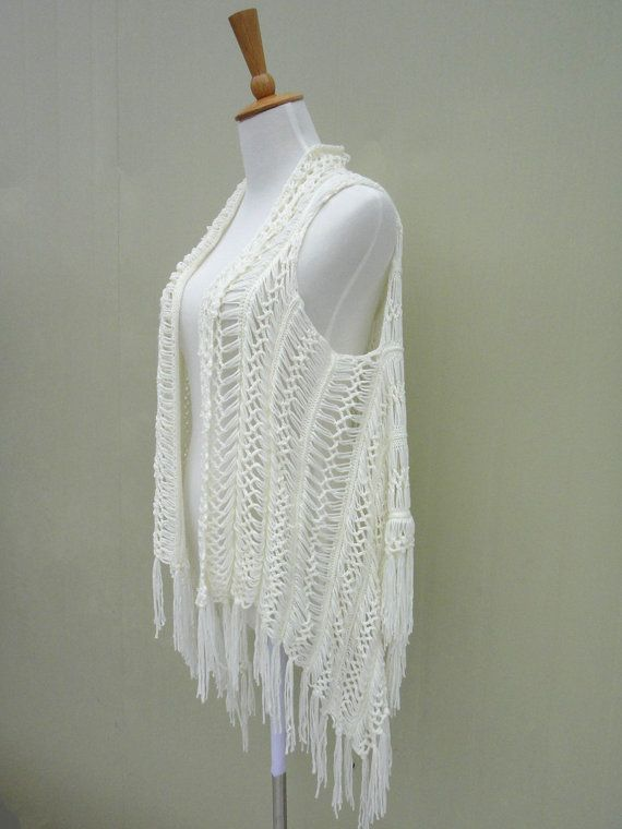 Fringe Crochet Beach Cover Up by TinaCrochet2016 on Etsy