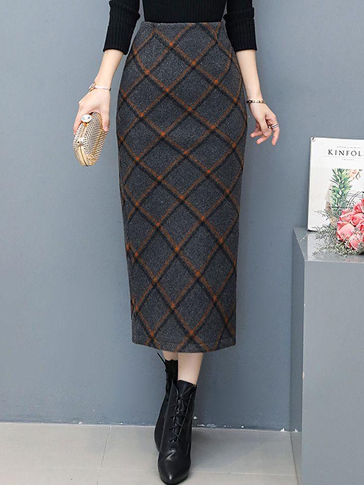 #prechic Mommy & Baby Chic Dress, Matching Fashion, Shop Plaid Woolen Slit Penci…