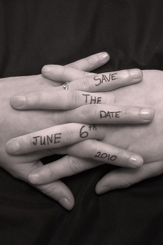 save the date idea. So simple and creative!!