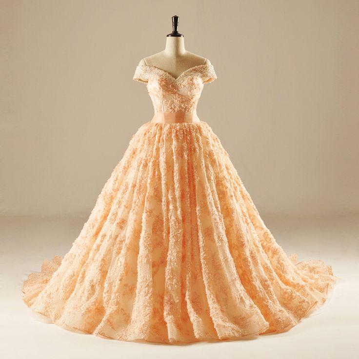 10 Best Ideas About Orange Wedding Dresses On Pinterest