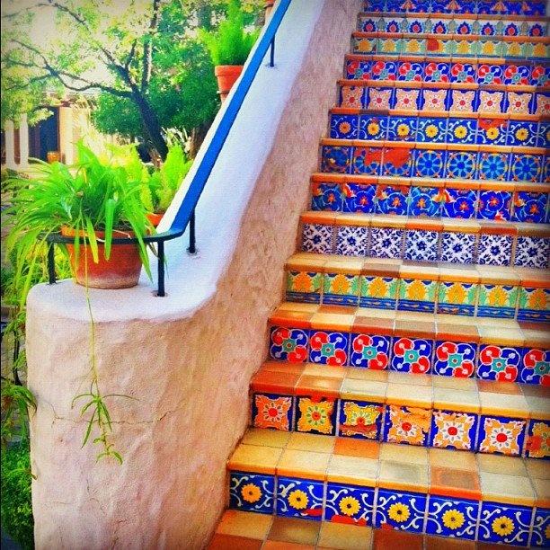 outra escada bem colorida!