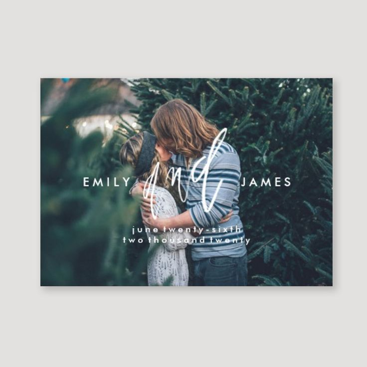 Zazzle save the dates that stand out from the crowd! Modern and hand lettered - the perfect way to announce your new engagement.