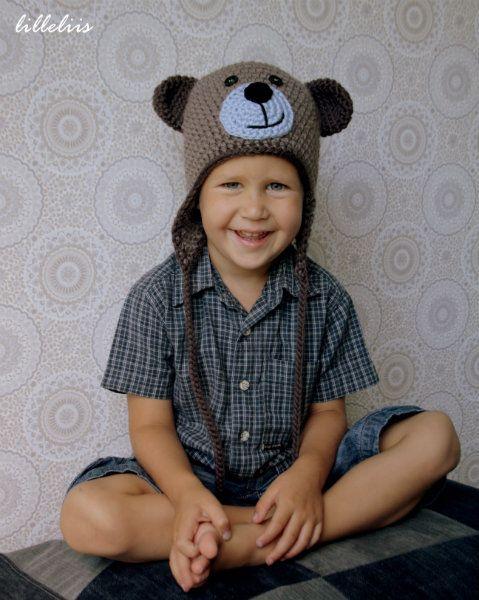 Crochet teddy bear hat #crochet #pattern #bear