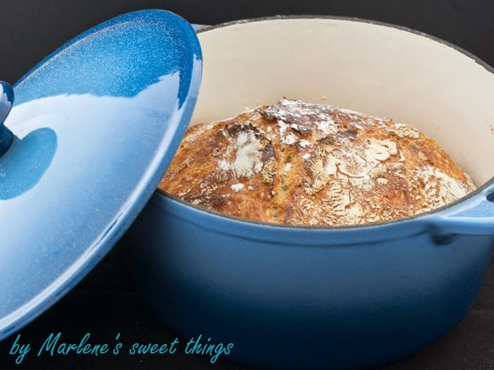 Marlene's sweet things: No Knead Bread - Brot aus dem Gusseisen-Topf