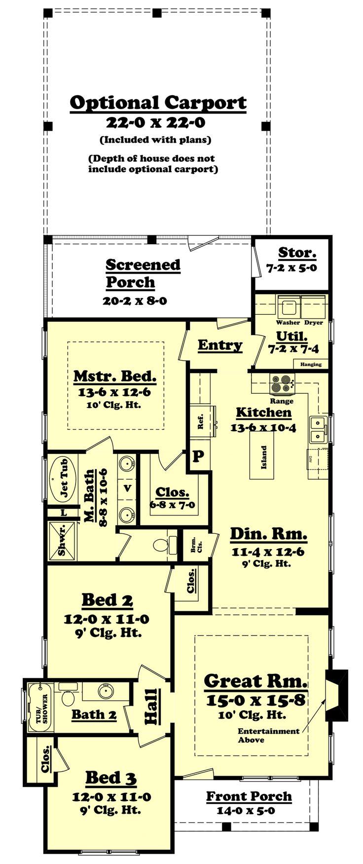 15 best floor plans images on pinterest garages house floor cottage style house plan 3 beds 2 baths 1396 sq ft plan 430