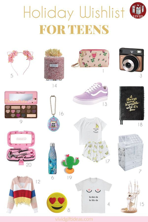 Unique and cool Christmas gift ideas for teen girls. - Holiday Gift Guide For Teens Gifts For Teenagers Gifts