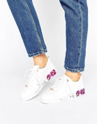Ted Baker Barrica White Leather Sneakers