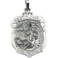 23 best saint michael images on pinterest saint michael san saint michael shield badge pendant in solid 14 karat white gold protect us medal all aloadofball Gallery