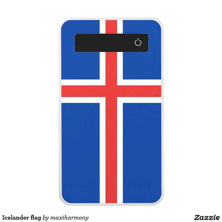 Icelander flag power bank