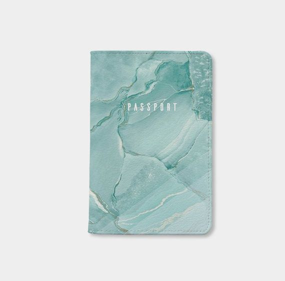 Green marble passport holder personalized passport cover passport holder leather passport wallet passport case by wanderlustcover shop
