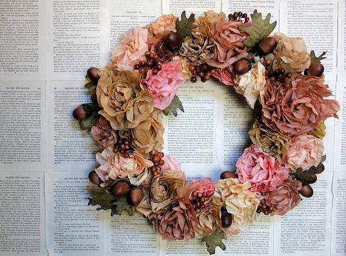 Бумажные цветы из кофейных фильтров