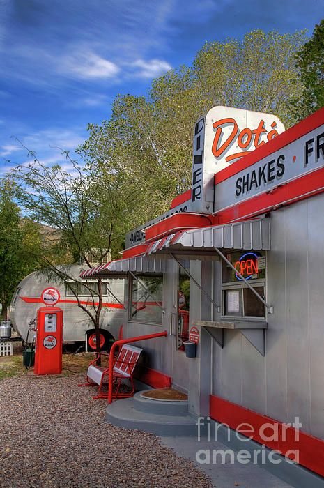 Dot's Diner in Bisbee, Arizona (at the Shady Dell Vintage Trailer Motel)
