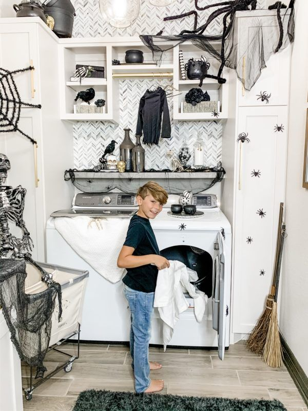 Spooktacular Laundry Room With Images Modern Laundry Rooms White Laundry Rooms Modern Room