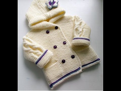 crochet cardigan / sweater / jumper - baby and child sizes 26 - YouTube