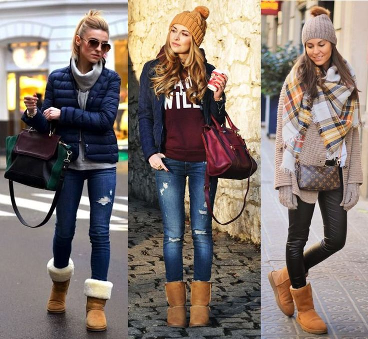 Comfy winter look collage