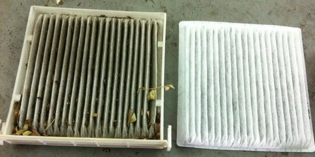 Remove and replace your cabin's air filter to get rid of stinky smells. | 23 Ways To Make Your Car Cleaner Than It's Ever Been