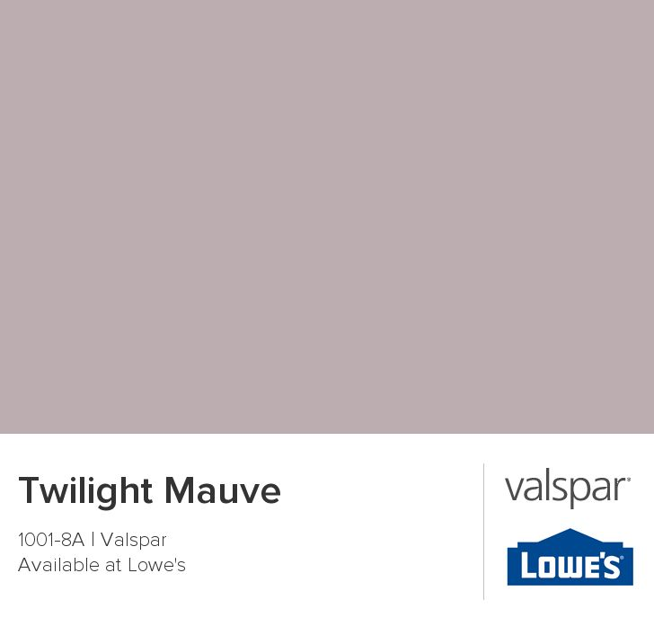 Twilight Mauve From Valspar Valspar Paint Colors