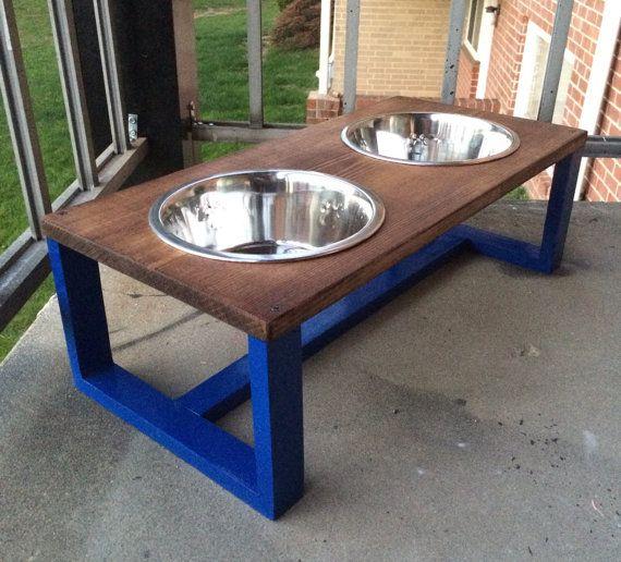 wood dog bowl holder pet bowl holder wooden pet dish holder raised