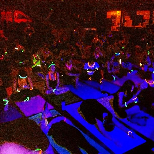 Yoga After Dark - Glow Yoga! https://glowproducts.com/ #glowyoga