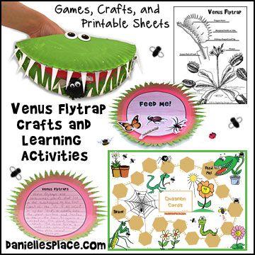 Venus atrapamoscas de Oficios y Actividades de Aprendizaje para Niños