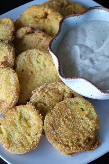 Ranch Fried Green Tomatoes with a Chili Ranch Dipping ...