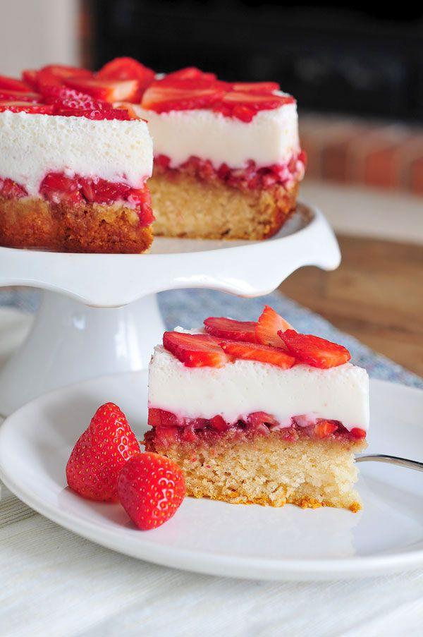Erdbeer-Joghurt-Kuchen vegan & fructosearm